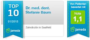 Jameda Dr. med. dent. Sefanie Baum